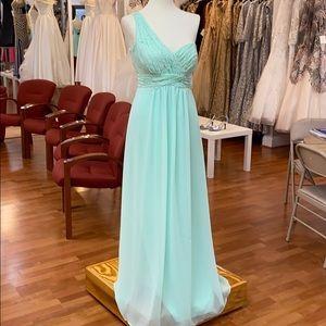 Suzi mint green bridesmaid dress
